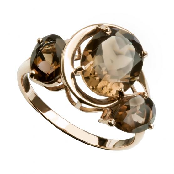 Кольцо золотое с кварцем